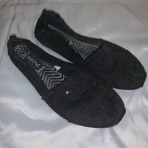 Mad Love crochet lace slip-on flat shoes